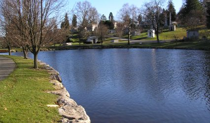 The Lake at Kensico Cemetery