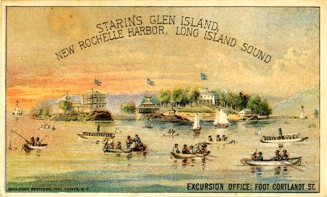 Postcard of Glen Island