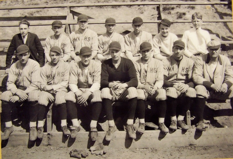 The Mount Vernon High School Baseball Team, circa 1915 - 1920. Courtesy of Bob Mayer.