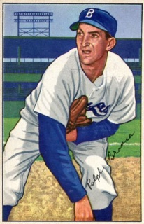 A 1952 baseball card of Ralph Branca. Courtesy of Bob Mayer.